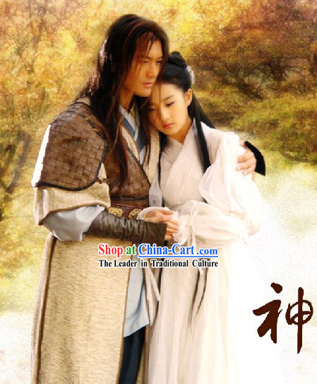Chinese Ancient Swordsman Clothing Whole Set in The Return of the Condor Heroes