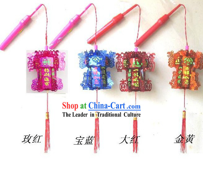 Traditional Chinese Happy Celebration Hexangular Lantern / Mini Palace Lantern