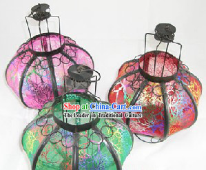 Traditional China Beijing Happy Celebration Handmade Iron Lantern
