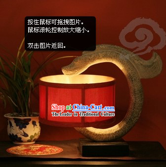 Traditional Chinese Handmade Stone Dragon Lantern