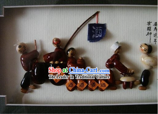 Chinese Traditional Bean Painting Arts and Crafts - Wine Shop
