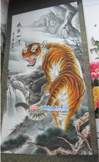 Chinese Film and Stage Performance and Photo Studio Prop - Traditional Painting Tiger