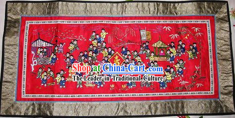 Chinese Traditional Embroidery Handicraft - One Hundred of Children