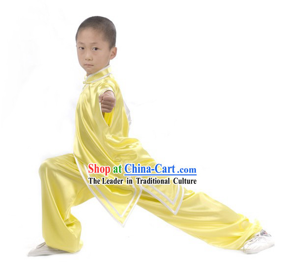 Chinese Professional Long Sleeve Martial Arts Tai Chi Uniform Complete Set for Children
