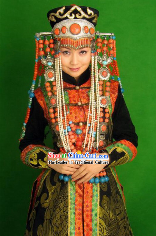 Chinese Classical Mongolian Women Costume