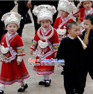 Chinese Traditional Miao Minority Outfit for Children