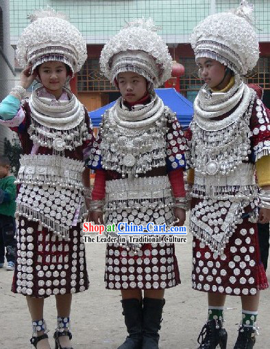 Chinese Classical Minority Silver Clothing Complete Set
