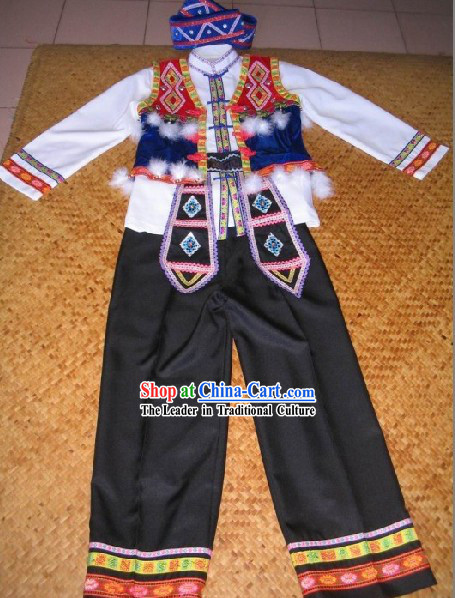 Chinese Traditional Minority Attire for Men