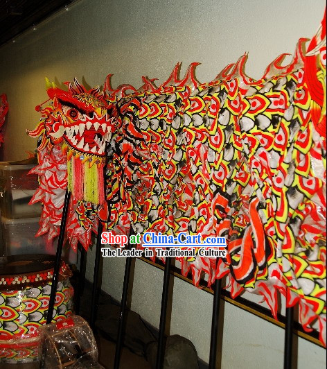 Chinese Classical Luminous Dragon Dance Costumes and Drum Complete Set