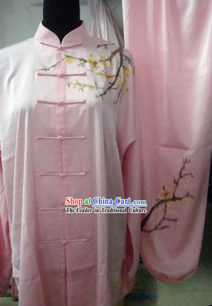 Chinese Silk Embroidery Wushu Dress / Martial Arts Clothing