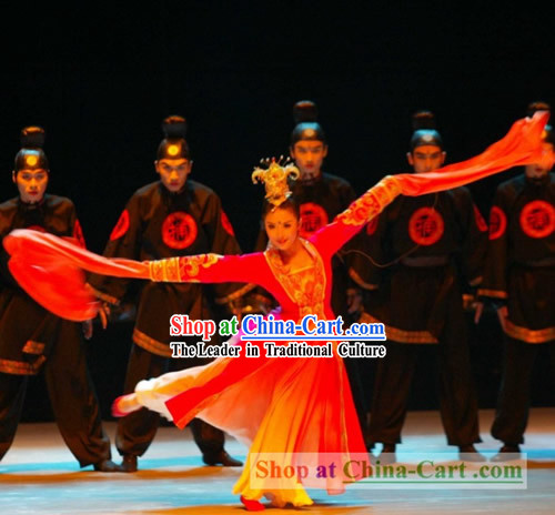 Flying Daggers Watersleeve Dance Costume Complete Set