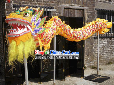 Traditional Chinese Dragon Dance Costumes for Three or Four People