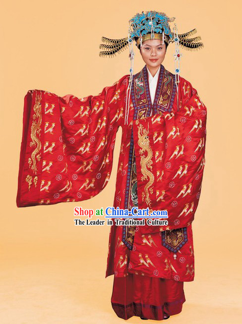 Ancient Palace Empress Wedding Costumes Complete Set