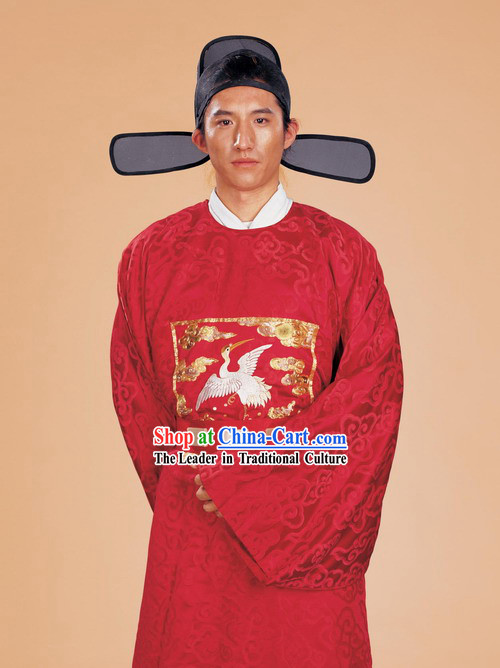 Ancient Chinese Official Costumes Set for Men