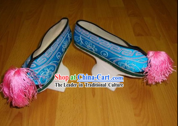 Chinese Handmade Manchu Shoes