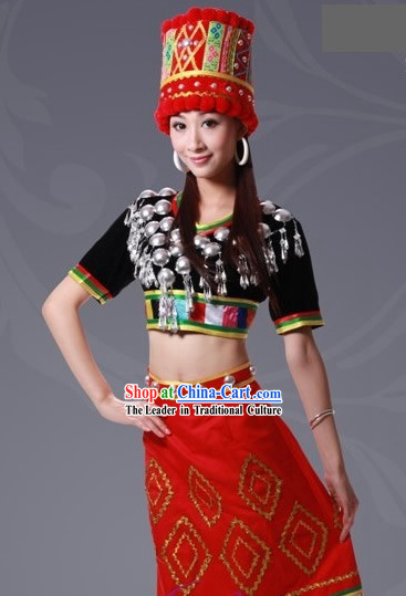 China Yugu Minority Clothing and Hat Complete Set