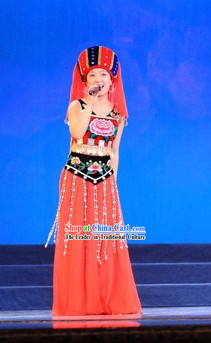 Chinese Tujia Minority Costumes Set for Women