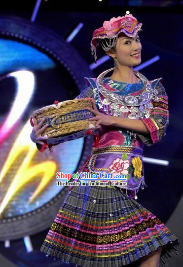 Chinese Melao Minority Costume and Set Complete Set