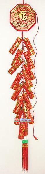 Traditional Chinese Remote Control Eelectric Firecrackers Hanging Set