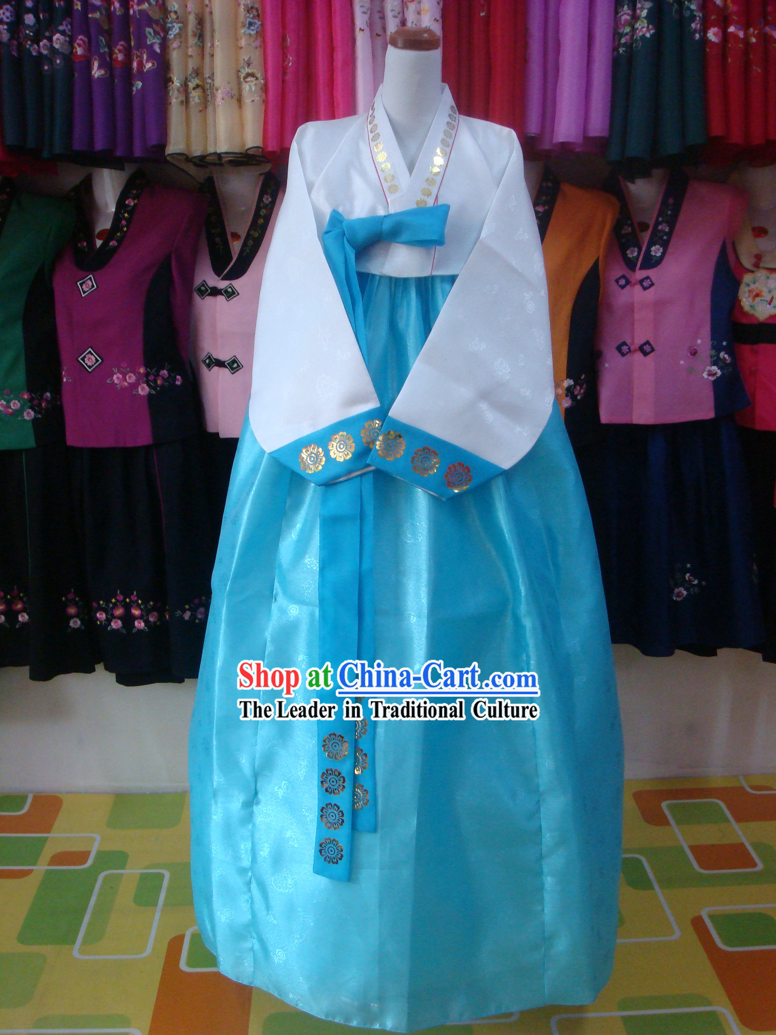 Traditional Korean Mother Hanbok Wedding Dress