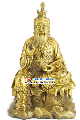 Chinese Lao Zi Bronze Statue Collectible