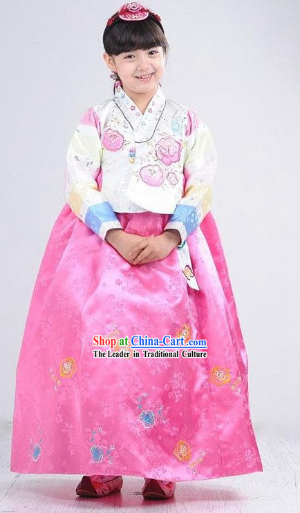 Traditional Korean Children Hanbok Complete Set
