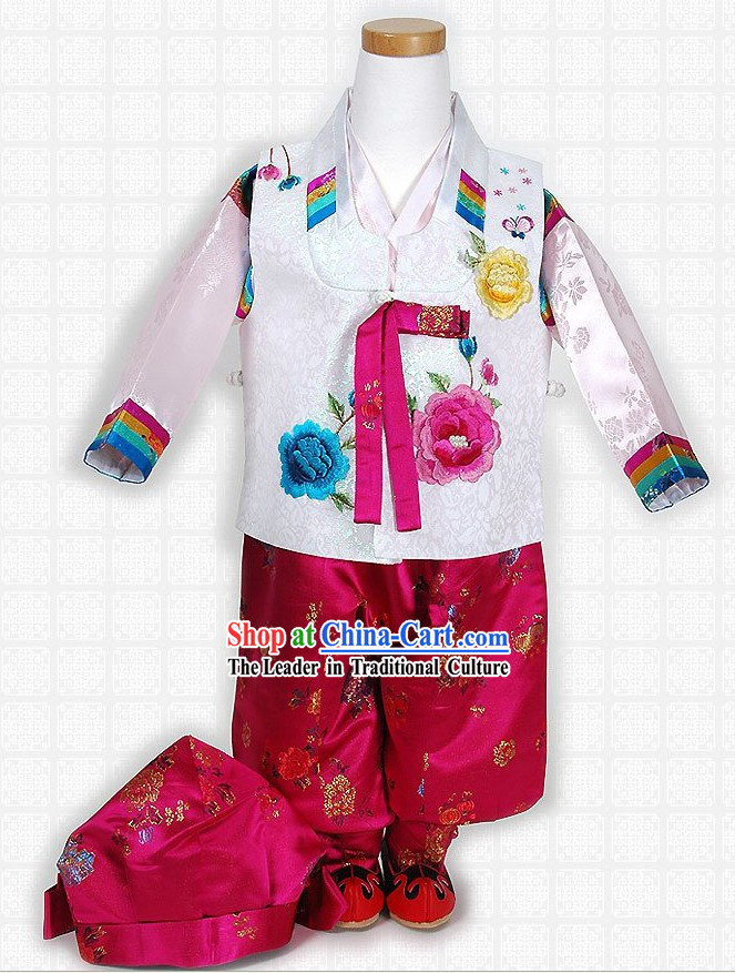 Traditional Korean Baby Hanbok Complete Set