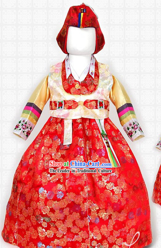 Happy New Year Korean Baby Girl Hanbok Complete Set