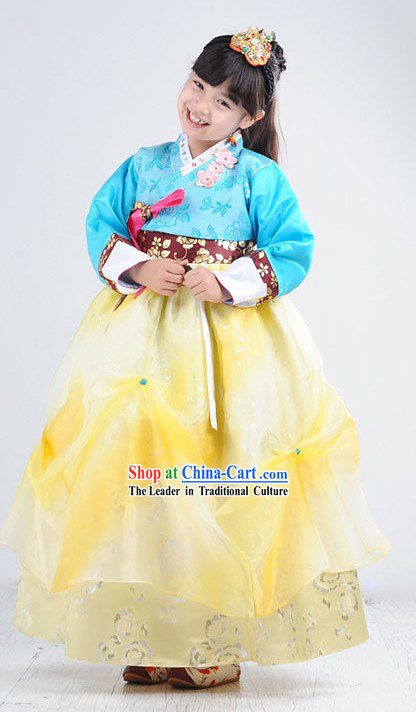 Traditional Korean Girl Hanbok Set