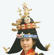 Ancient Korean Empress Wig Set for Women