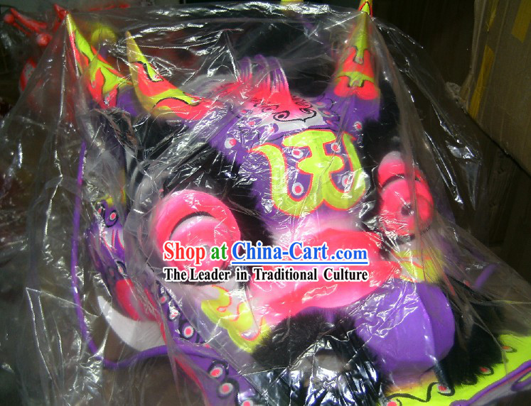 Supreme Fluorescent Luminous Dragon Dance Costume Complete Set for Children