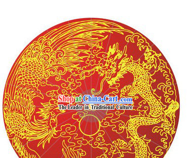 Chinese Wedding Dragon and Phoenix Umbrella
