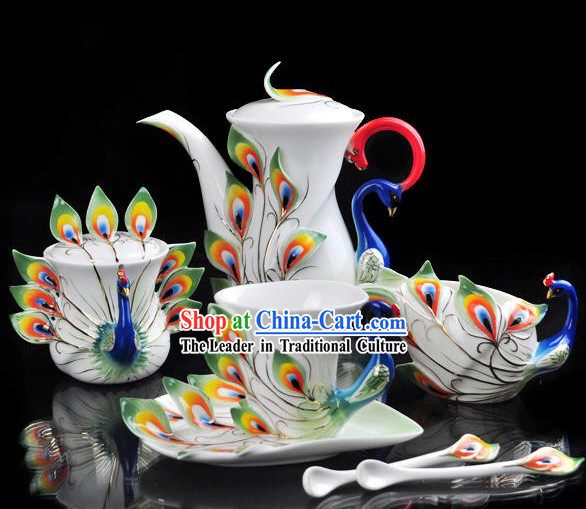 Chinese Classical Goldfish Ceramic Coffe Cups 21 Pieces Set
