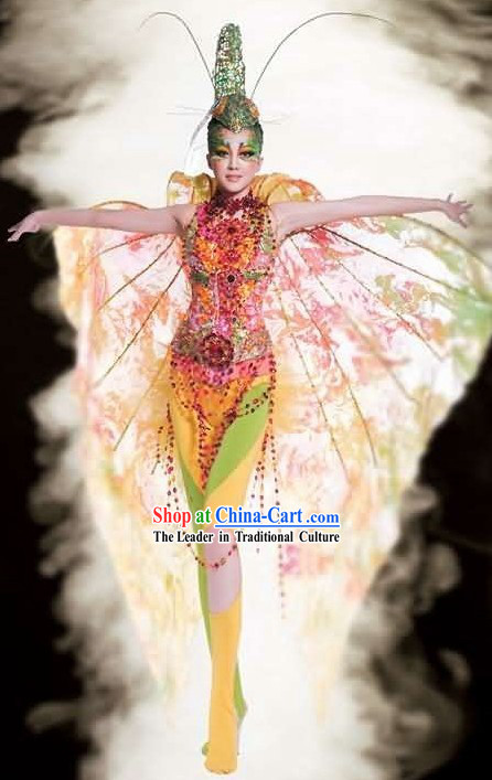 Chinese Acrobatics Costume Complete Set
