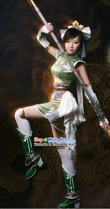 Ancient Chinese Solider Cosplay Costume Set