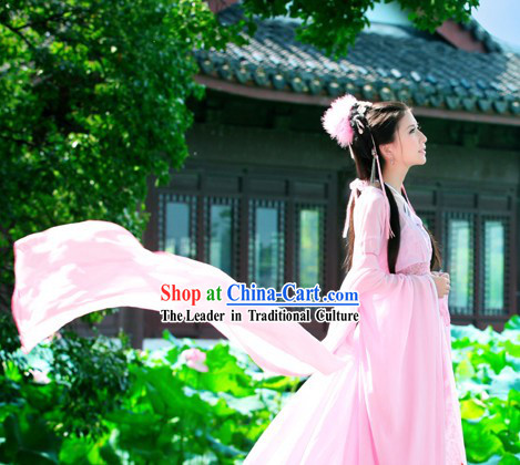 Ancient Long Tail Pink Fairy Dress Complete Set