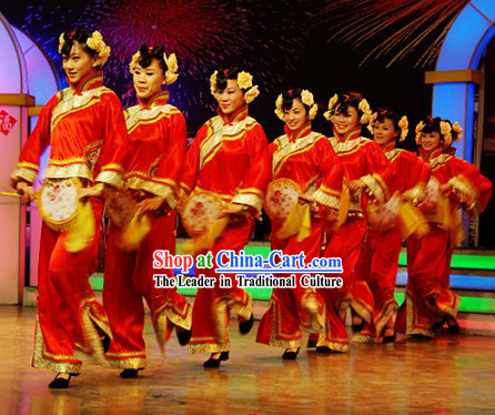 Chinese Yangge Dance Costume Set