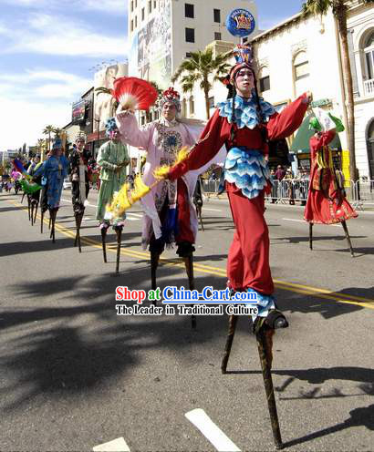 Chinese Jumping Stilt Gao Qiao Costume Complete Set