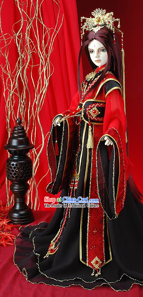 Ancient Chinese Emperor Cosplay Costume Complete Set