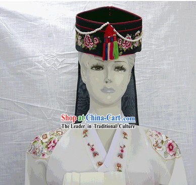Traditional Korean Embroidery Hat