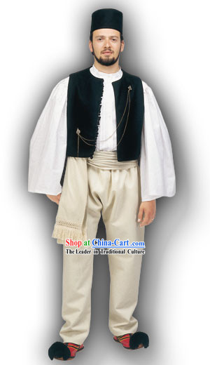 Epirus Male Traditional Greek Dance Costume