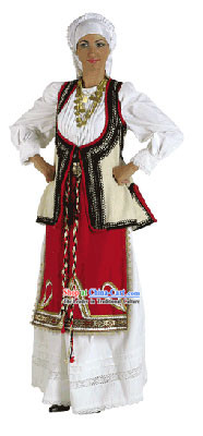 Levadia Female Traditional Greek Dance Costume