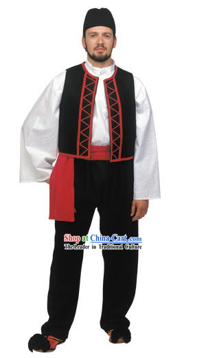 Sarakatsanos Male Traditional Greek Costume
