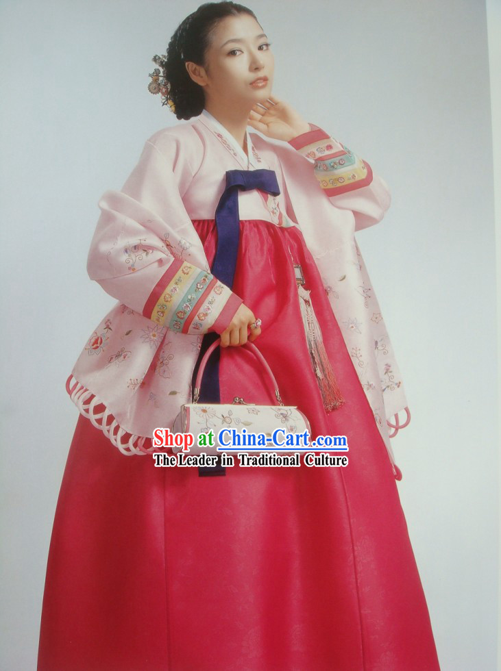 Modern Korean Hanbok Dress Complete Set
