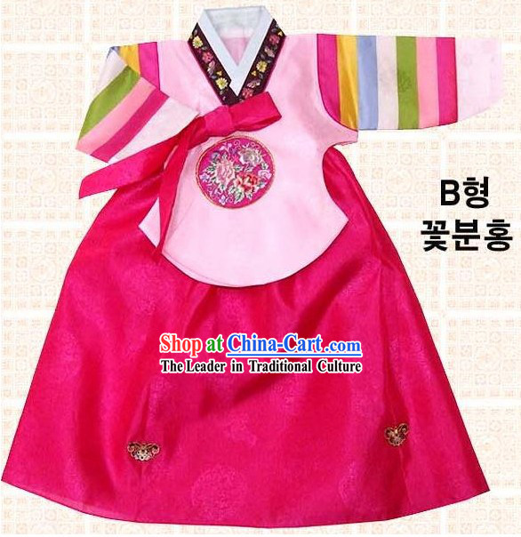 Traditional Korean Birthday Hanbok for Kids