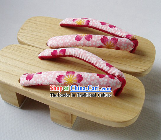 Traditional Japanese Kimono Geta Set for Women