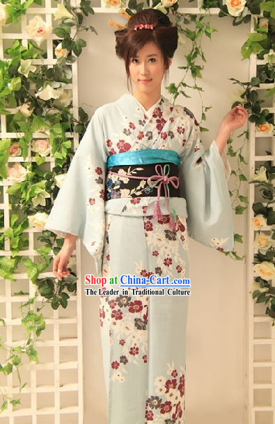 Japanese Kimono Dress Complete Set