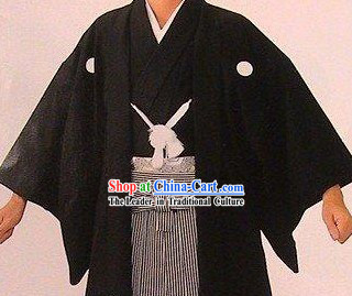 Traditional Japanese Male Kimono Complete Set
