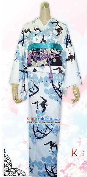Traditional Japanese Princess Silk Kimono Set