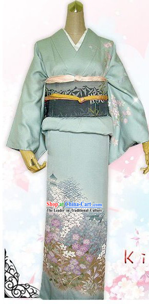 Japanese Female Kimono Dress Complete Set
